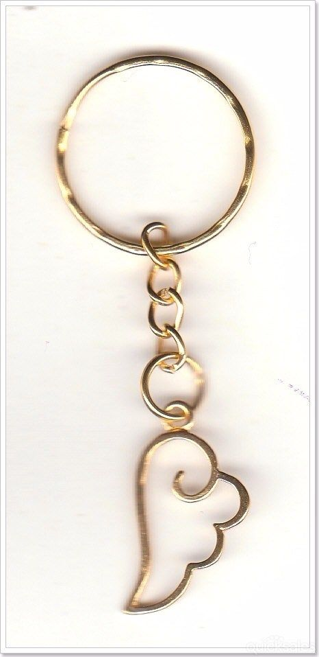 Angel Wing Charm Gold Plated Keyring  by MadAboutIncense - $6.50