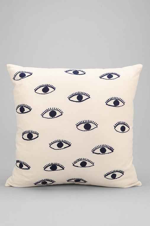Throw Pillows Urban Outfitters : Magical Thinking Embroidered Eye Pillow Urban outfitters, Music rooms and White pillows