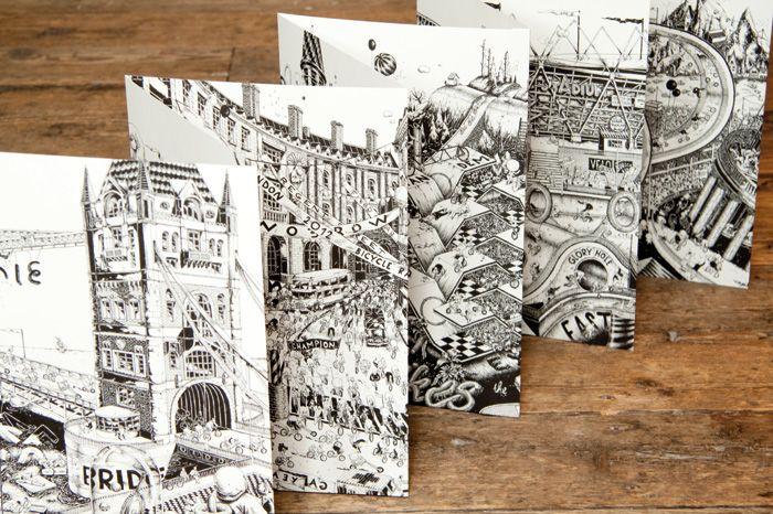 Ugo Gattoni's illustrated London bicycle race