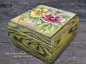 """""""Esta caixa de presente por cem anos."""" Envelhecimento de madeira por calcinação, brashirovki, depilação e tingimento - Mestrado Feira - arte..."""