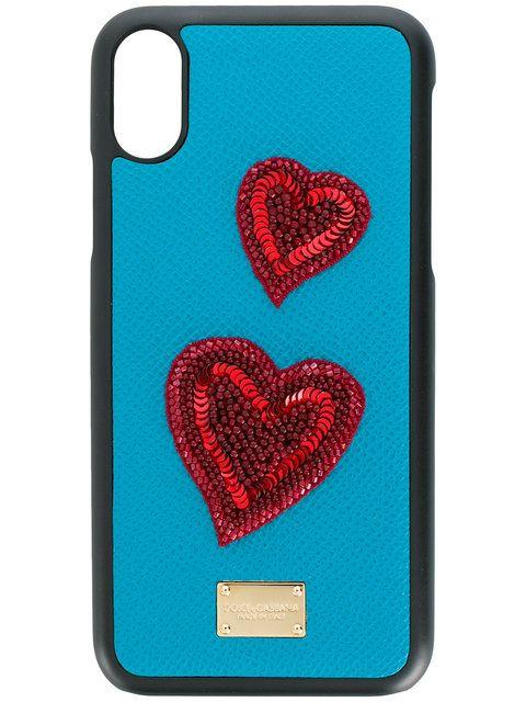 cozy fresh 18616 9a965 Dolce & Gabbana heart patch iPhone X case | Unusual i Phone Case ...