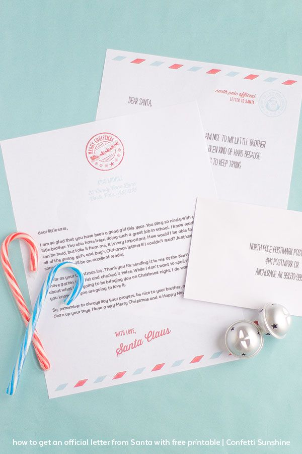 How to get an Official Letter from Santa plus free printable Letter To Santa