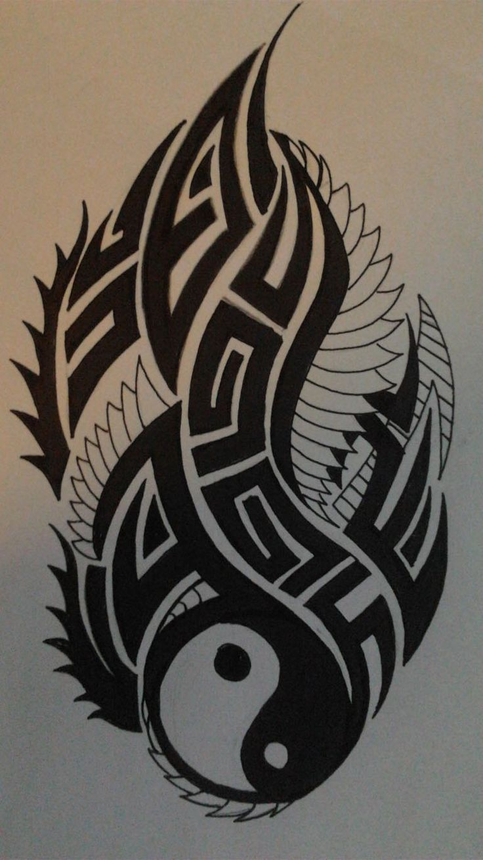 how to draw a yin yang dragon