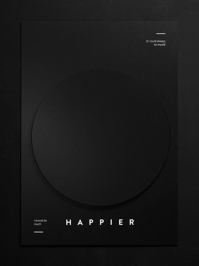 Happier #graphic #design #poster in Graphic Design Posters
