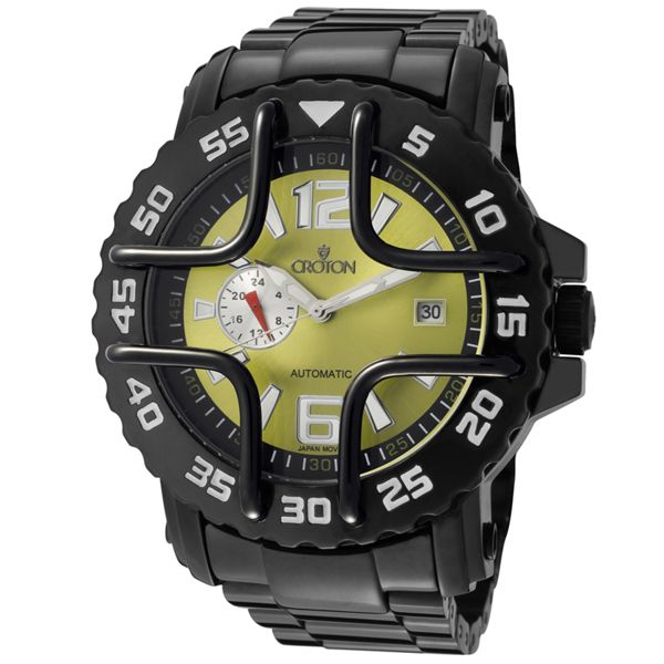 Men's Black Stainless Steel - Croton Watch
