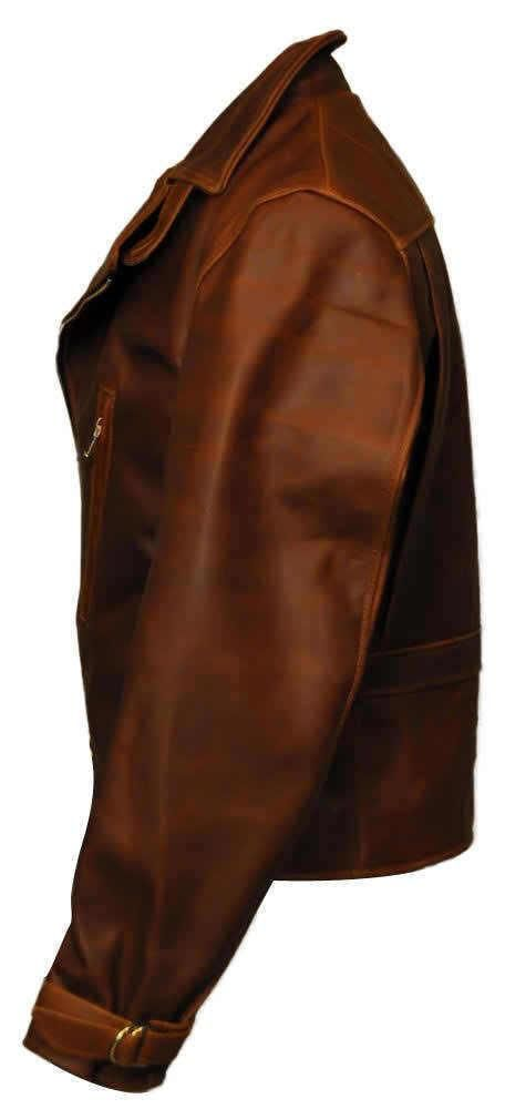 Captain America The First Avengers Distressed Brown Real Leather Jacket This sensational jacket is inspired by the jacket worn by Chris Evans in blockbuster mov