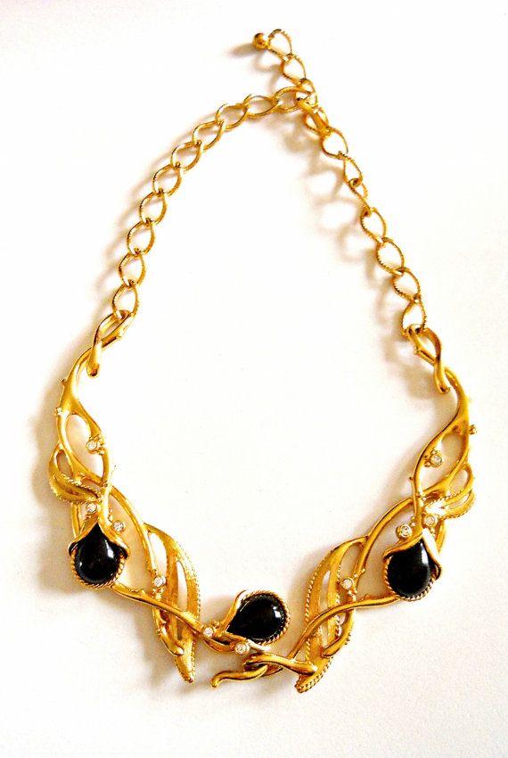 barrera 39 granada 39 for avon necklace black gold tone