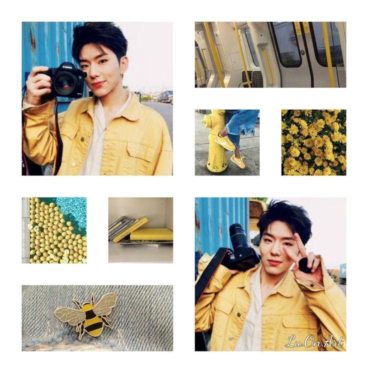 Lu.On.Art Kihyun Monsta X yellow collage