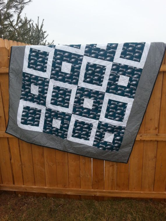 One Handmade Philadelphia Eagles Quilt By Mancavequilts1