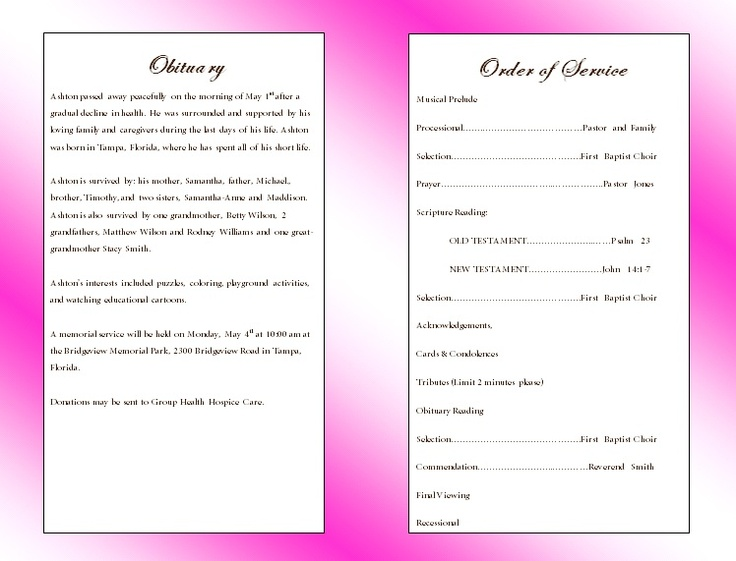9 best Design inspiration images on Pinterest Funeral cards - funeral checklist template