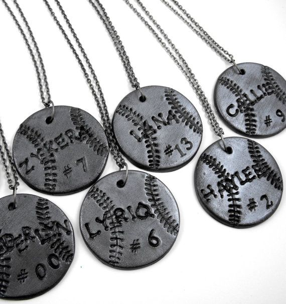 10 Softball Necklaces Personalized with by RockThePepRally