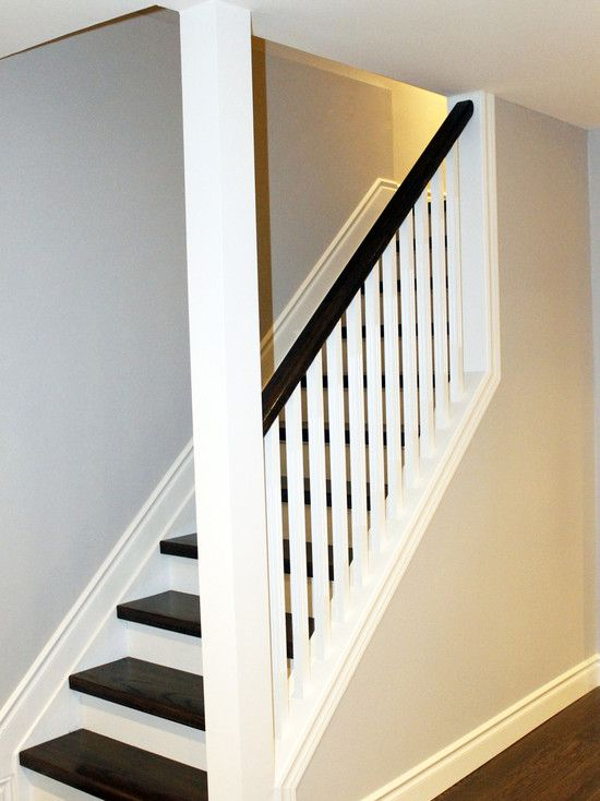 Contemporary staircase railing design pictures remodel decor and ideas page 43 stairs - Basement stair ideas pinterest ...