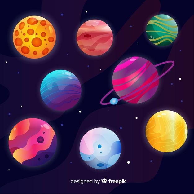 Download Collection Of Colourful Planets From Solar System For