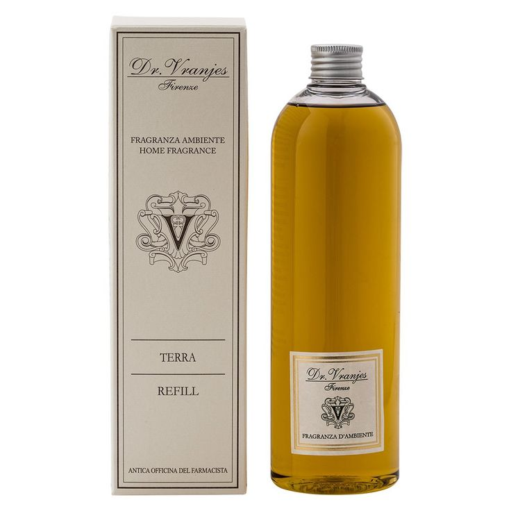 Terra Dr. Vranjes 500 ml Refill Bouquet    Refill Bouquet by the italian firm  Dr. Vranjes. Content 500 mlPerfume Head notes: Siberian PineHeart Notes: Musk, Lavender and Vanilla.Background Notes: Wild Mint     https://www.maisonparfum.com/en/refills/2798-terra-dr-vranjes-500-ml-refill-bouquet-8033196273332.html    #perfume #homefragrances #parfum