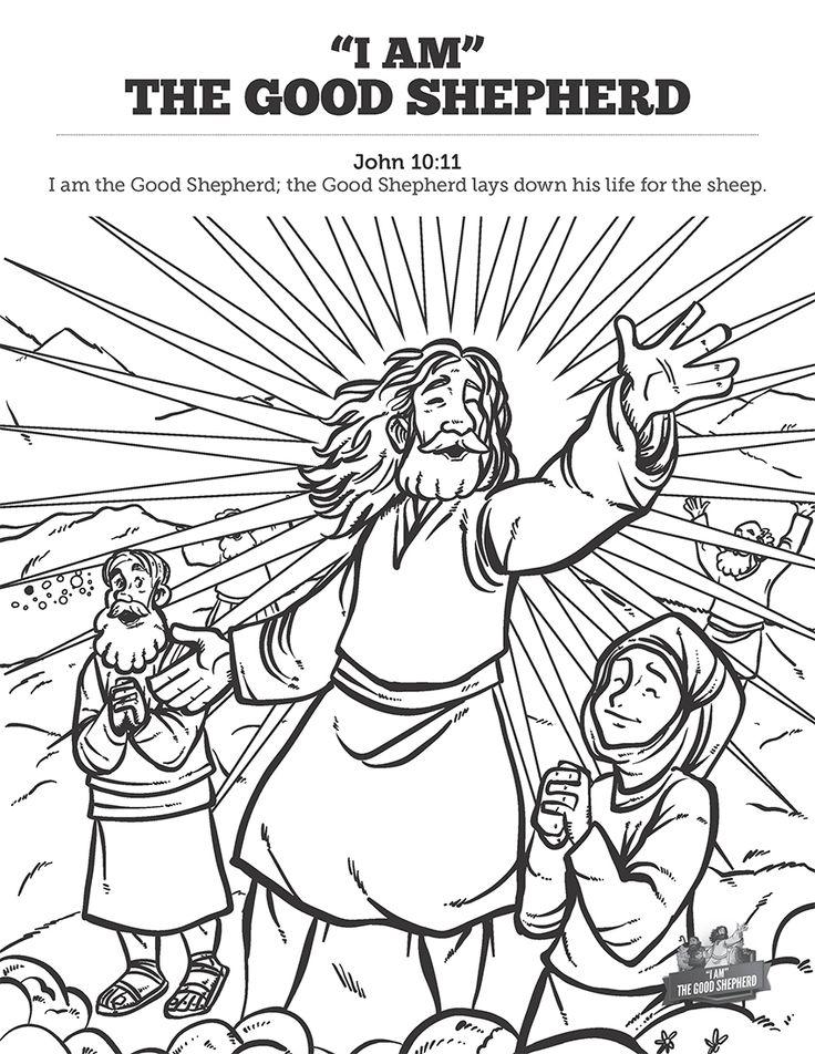 John 10 11 Jesus I Am The Good Shepherd Coloring Page