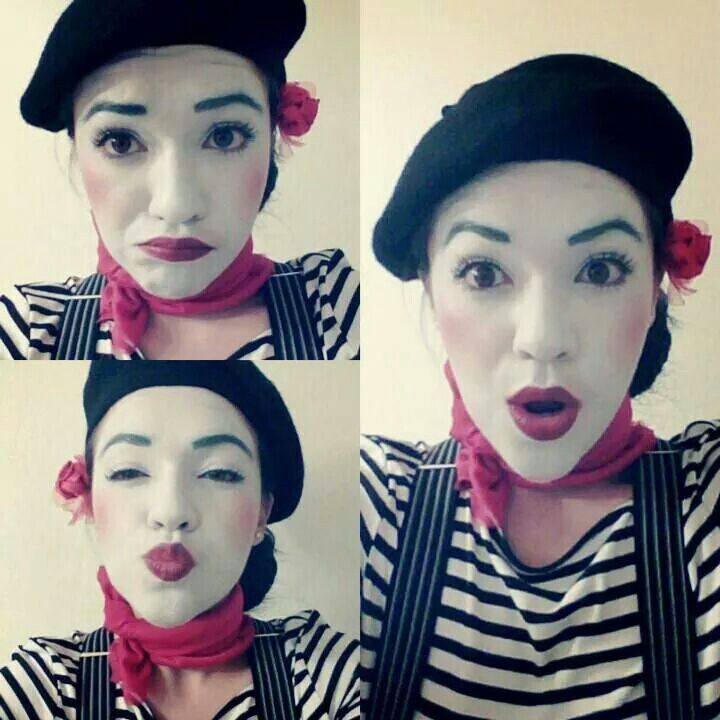 French Mime Costume / Mime make up