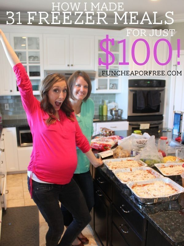 How I made 31 freezer meals for just $100, in 4 hours! From FunCheapOrFree.com