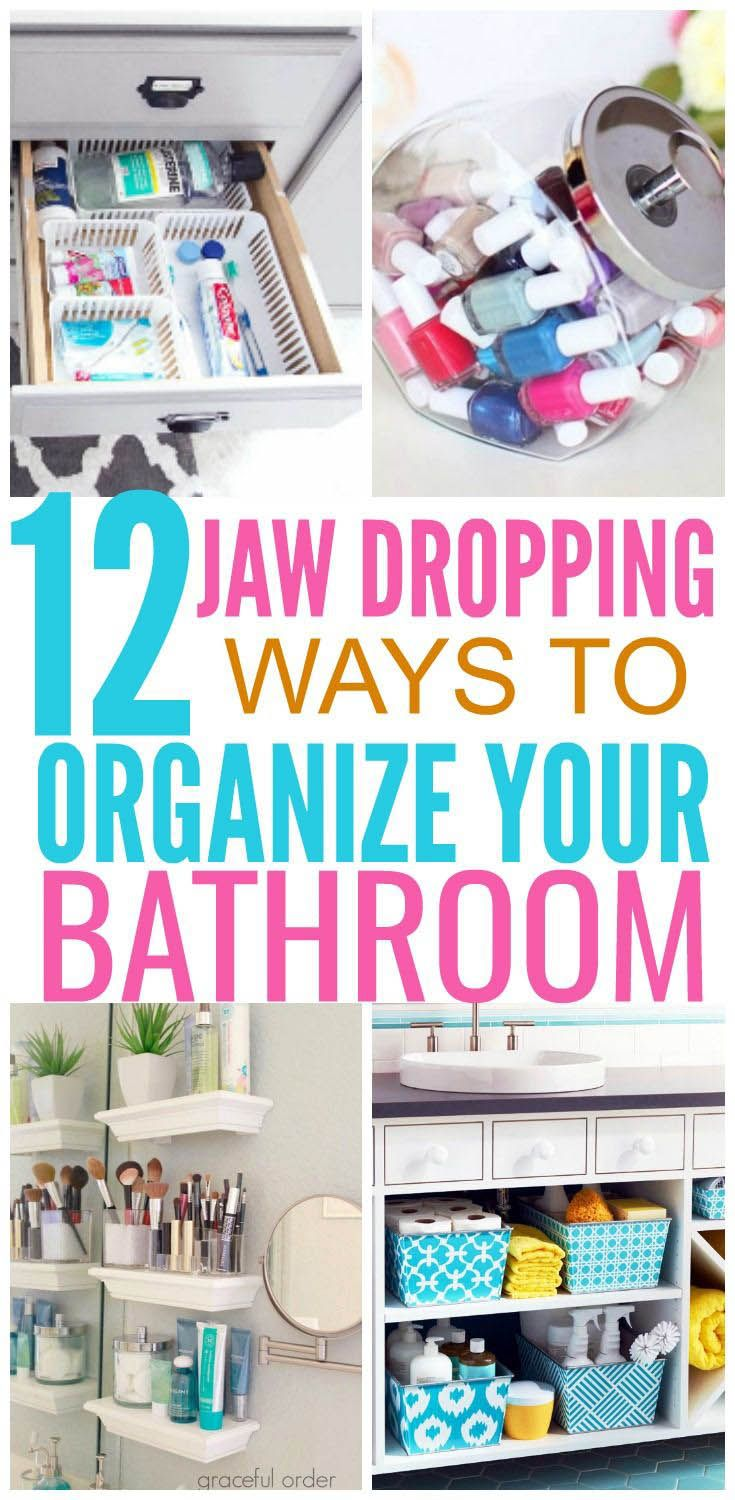 Cool Organization Ideas For Bedroom Pinterest That Will Blow Your Mind Bathroom Organization Diy Diy Bathroom Bathroom Organization