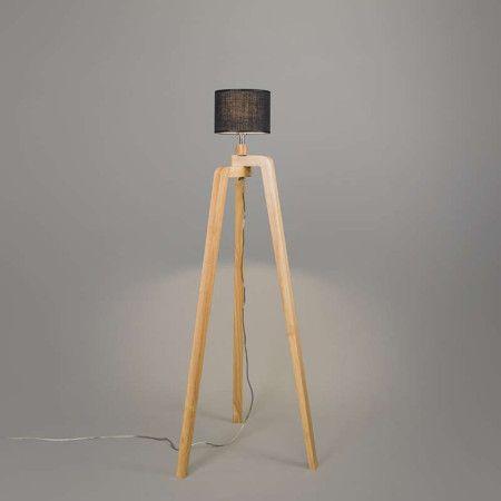 Lampa podłogowa Puros drewno
