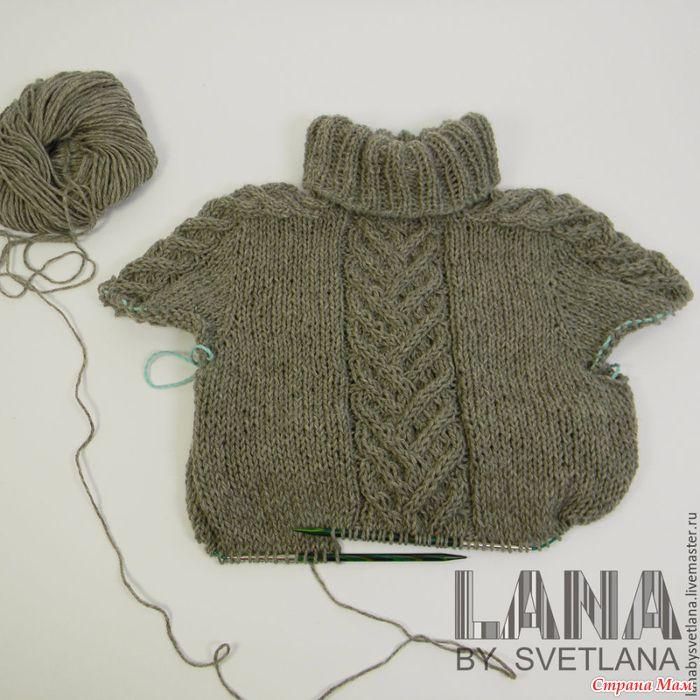 Бесшовный свитер с рукавом-погоном. Очень подробный мастер-класс