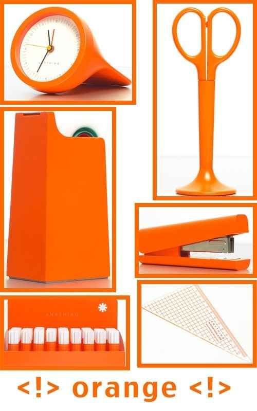 All these great orange office supplies. | 25 Of The Orangey-Ist Orange Things