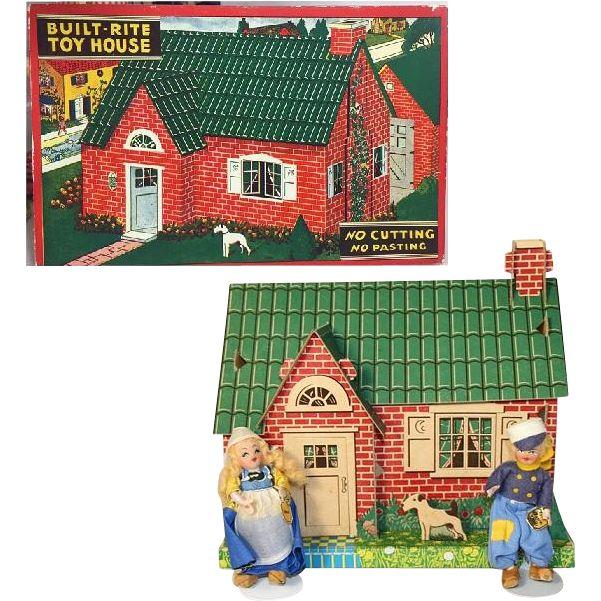 1940s Built-Rite Mini Puzzle