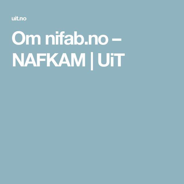 Om nifab.no – NAFKAM   UiT