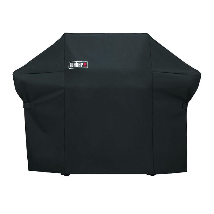 Weber Grill Cover with Storage Bag for Summit 400-Series Gas Grills, Black