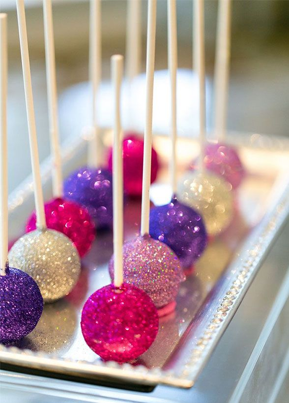 Sparkling cake pops make for the picture perfect bite.Take a look at our 10 favorite ways to add a little glamour to everyone's favorite course.