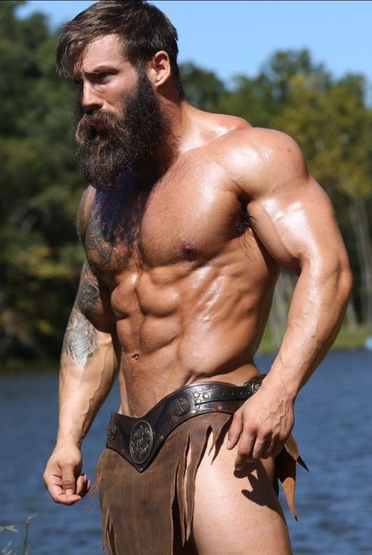 Hairy Naked Muscle Men 76