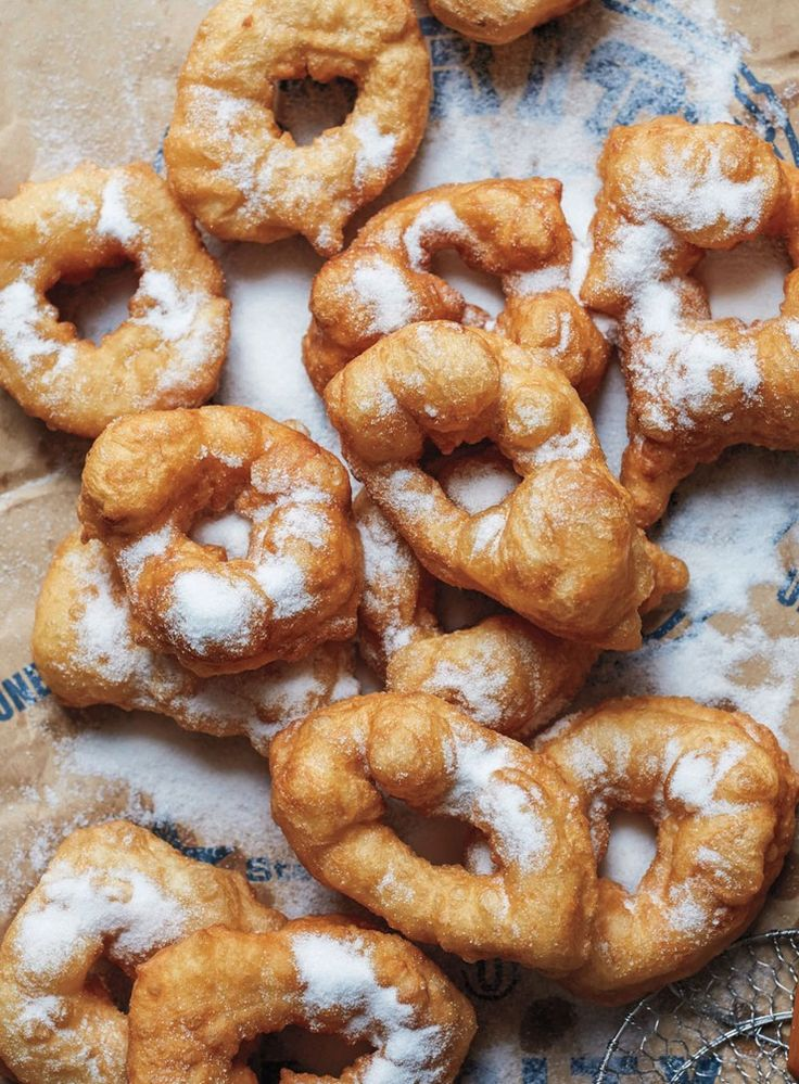 Sfinge is an airy and very light doughnut made with a sticky, almost batter-like yeasted dough that fries up like an Italian zeppole. To make these doughnuts from new bookBreaking Breads, use wet hands to simply pinch off a knob of the batter and gently stretch the bit of dough into a ring shape before dropping it into hot oil.