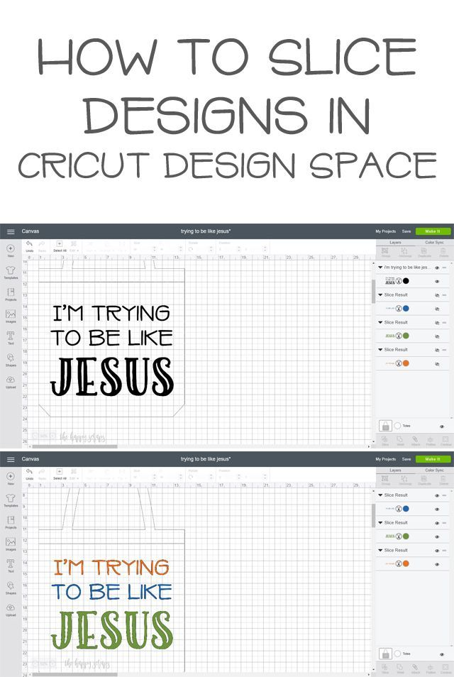 How To Slice Designs In Cricut Design Space Oh So Clever