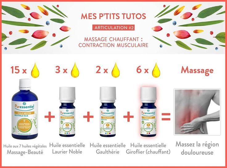 DIY : Le massage chauffant, pour calmer articulations sensibles et muscles échauffés avec les huiles essentielles.