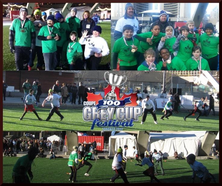 Grey Cup Flag Tournament-Mississauga Football League PeeWee and Bantam players @TorontoArgonauts