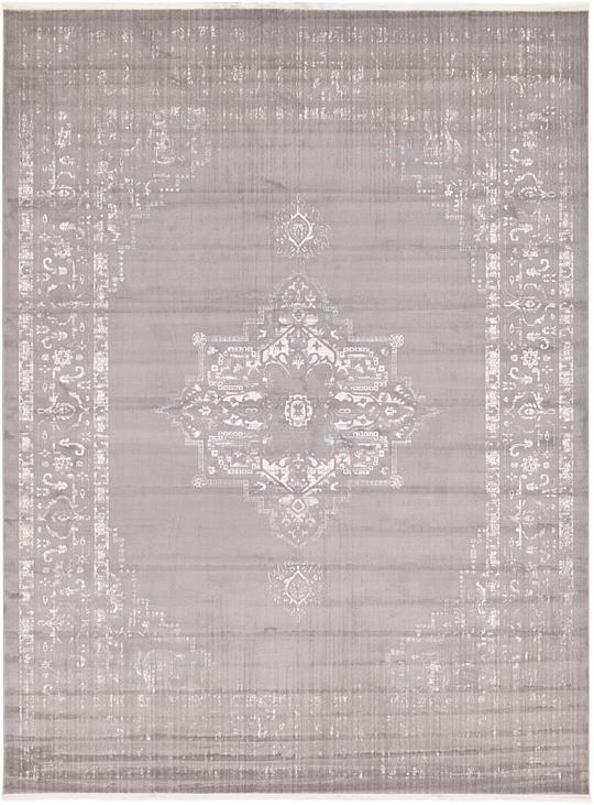 light gray new vintage area rug