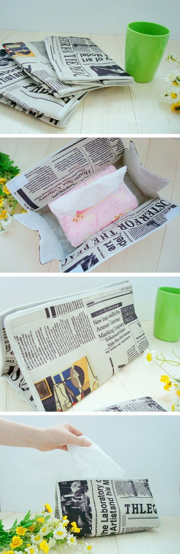 INFMETRY:: Old Newspapers Tissue Boxes - Home&Decor