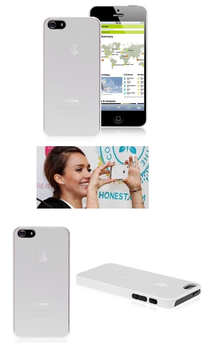 Jessica Alba proud of her iPhone 5 elegant white case #jessica #alba #iphone5 #case #white #elegant #cover $6.75