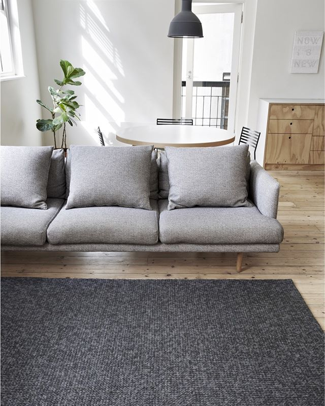 Charcoal Sierra Weave rug. Armadillo and co