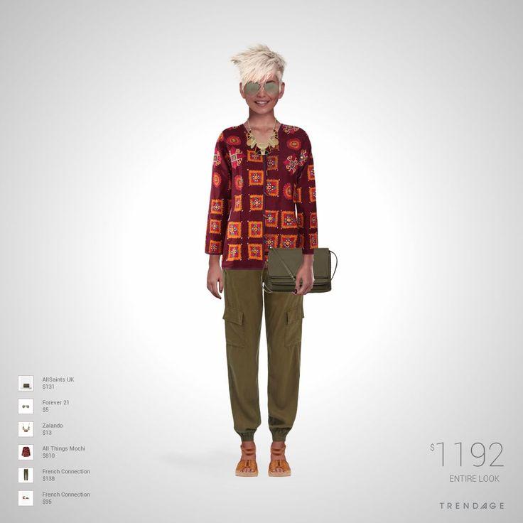 Наряд создан Nestan использовалась одежда Forever 21, All Things Mochi, Zalando, French Connection, AllSaints UK. Образ создан в Trendage.