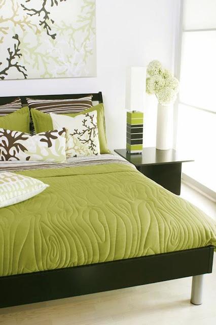 Verde manzana recamaras pinterest - Dormitorio verde ...
