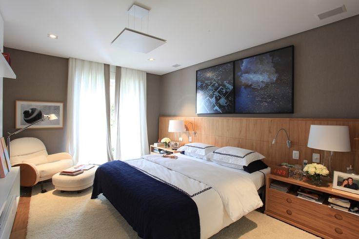 Quarto com cama e criado Vintage por Dado Castello Branco  ~ Quarto Solteiro Vintage