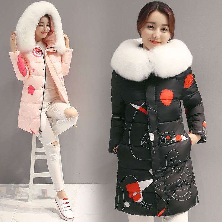 36.39$  Buy now - https://alitems.com/g/1e8d114494b01f4c715516525dc3e8/?i=5&ulp=https%3A%2F%2Fwww.aliexpress.com%2Fitem%2F2016-ladies-winter-coat-long-section-of-Korean-students-self-cultivation-and-thin-thick-fur-collar%2F32738253870.html - 2016 plus size thickening down jacket ladies medium-long parka female fashion large fur collar winter coat women slim outerwear