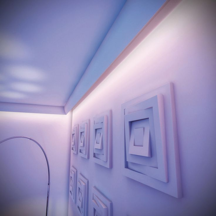 Attach the coving to the ceiling and fit with led lights Simplisafe z wave