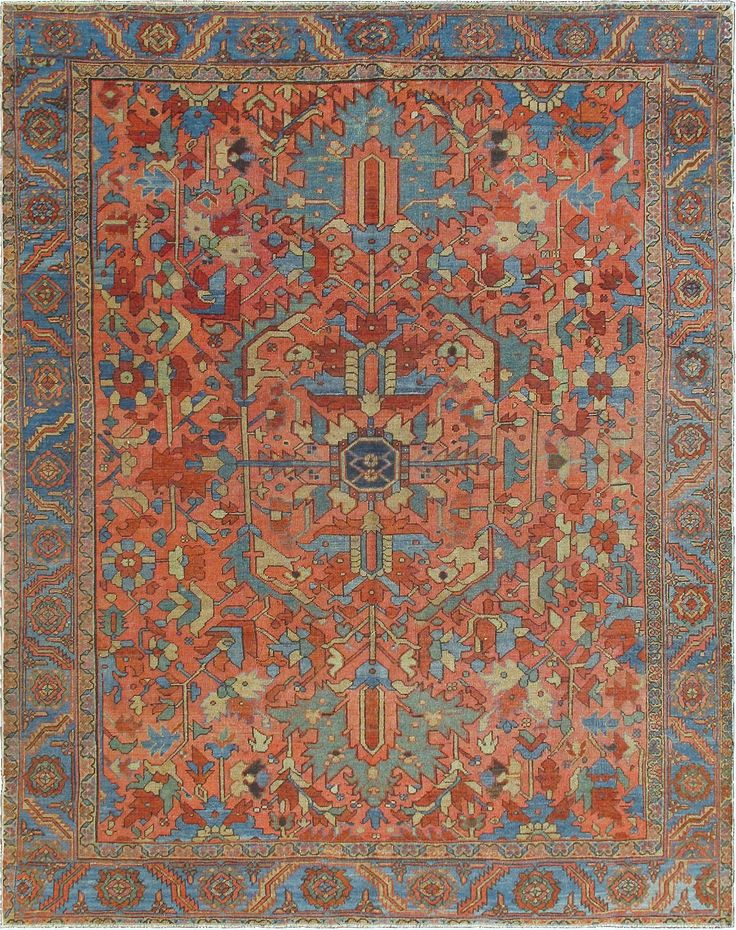 Persian Heriz Serapi Rug From