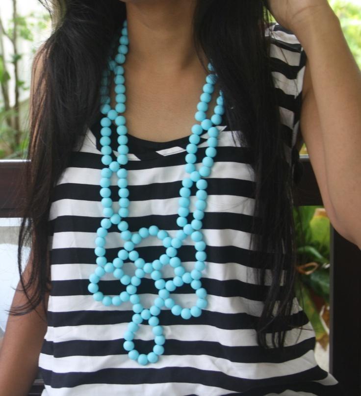 Turquoise geometric necklace