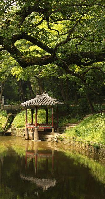 Peaceful Pavillion in Seouls Secret Garden, South Korea