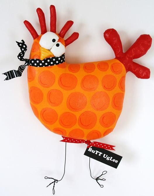 Chicken named Chicklet by buttuglee on Etsy
