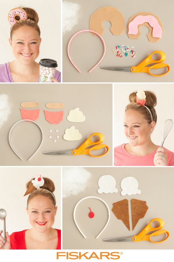 Looking for an easy-to-make Halloween outfit? Use this template and let your imagination run wild. You can also make a cupcake headband, donut headband or whatever you can think of. Check out Fiskars.com for more inspiration and get started!