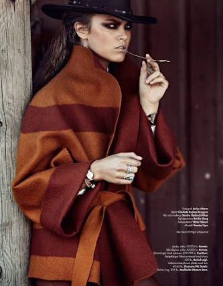 provocative fashion coat editorial - 597×795