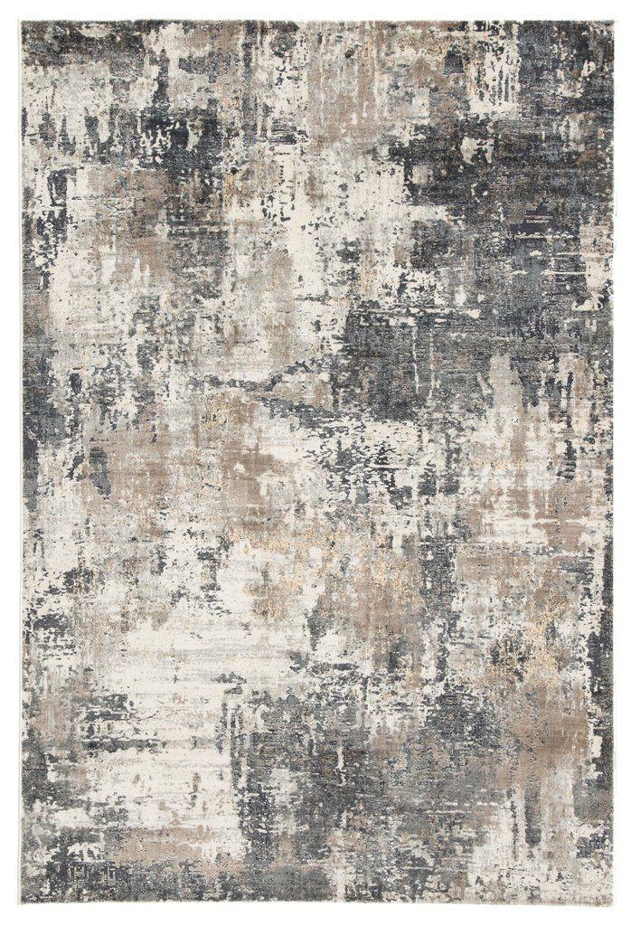 Sisario Abstract Gray Gold Area Rug Abstract Rug Abstract